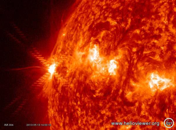 A X 2.8 solar flare just occurred
